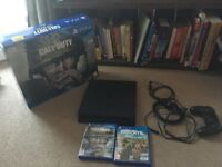 """@PS4 SLIM CONSOLE (500GB) WITH 2 ENTERTAINING """"EVERLASTING"""" GAMES!!! GREAT CONDITION, ONLY £180@"""