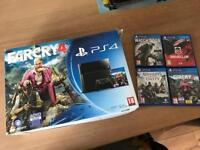 Playstation 4 PS4 console with 4 games