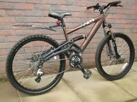 Saracen Raw 2 Full suspension mountain bike.