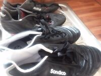 FOOTBALL BOOTS X2 PAIRS SIZE 6