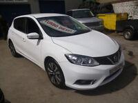 Nissan PULSAR 1.5 N-TEC DCI,5 door hatchback,only 7,500 miles,free road tax,Sat Nav,all the extras