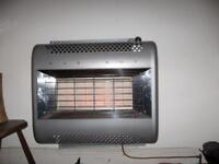 RADIANT Gas Fire, 60's Vintage style, silver colour, wall mounted.