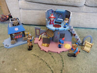 collection of mike the knight toys