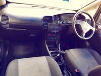 Vauxhall zafira 1.6 blue petrol 7 seater.
