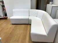 white modular sofa