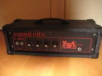 Sound City 50 watt guitar/bass amp head