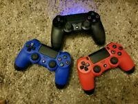 ps4 controllers for sale - black, blue , red - £30 each