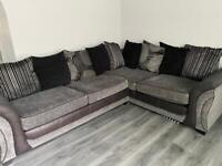 3 and 2 seater sofa with foot stool with storage