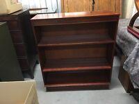 Mahogany veneer bookcase