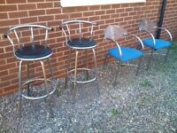 Chairs and swivel stool for office or patio