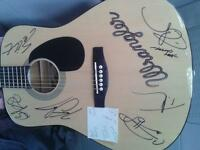 AUTOGRAPHED GUITAR WITH CERTIFICATE OF AUTHENTICITY