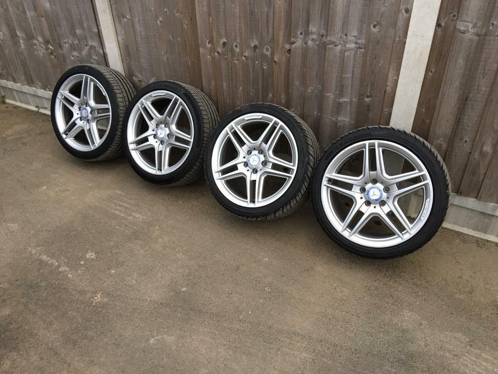 4x Mercedes AMG Alloy Wheels & New Tyres Genuine