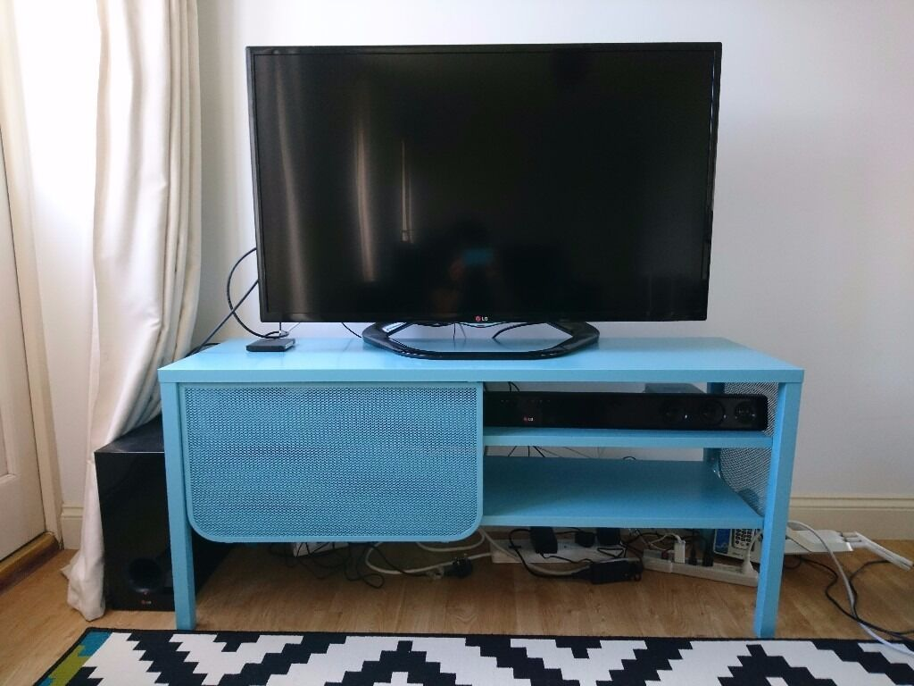 Ikea Nittorp Turquoise Metal Tv Bench Stand In Milton