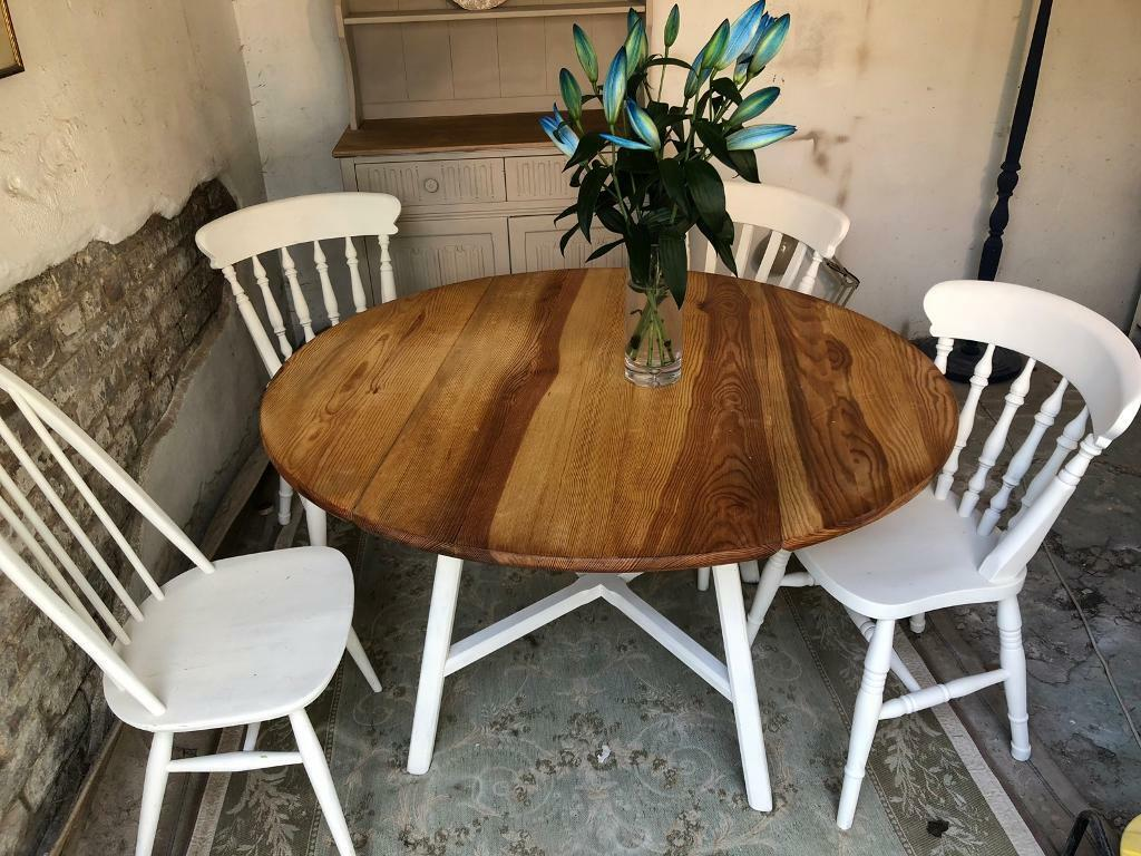 Prime Ercol Style Vintage Pine Kitchen Dining Table And Chairs In Bournemouth Dorset Gumtree Download Free Architecture Designs Licukmadebymaigaardcom