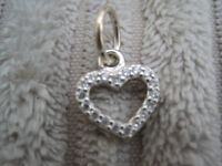 GENUINE Pandora Heart Pendant in Sterling Silver