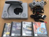 SONY PS1 Retro console plus 4 games - £29