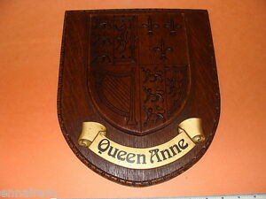 British-Royal-Coat-of-Arms-Queen-Anne-Heraldry-Crest-Wall-Plaque-England