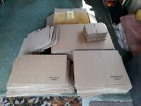 Flat pack boxes and jiffy envelopes