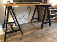 Ikea desk with trestle feet