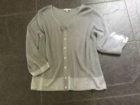 Silver grey Per Una top. Size 14. Very good condition