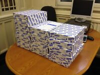 17 packs (8500 sheets) of everyday use A4 printer / copier paper 80gsm.