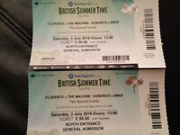 Florence and the machine tickets x2, 2nd July Hyde Park