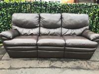 ✅ 3 -1 -1 LUXURY RECLINING FULL LEATHER SOFAS SUITE