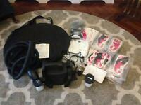 Professional spray tan machine + 2 spray tents sticky feet mob caps and g strings