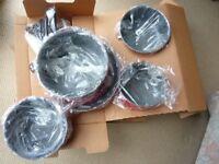 lightweight non-stick unused saucepan set