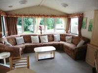 FAMI CARAVAN FOR SALE, DOUBLE GLAZED, GAS CENTRAL HEATED, THREE BEDROOM. ON A PRIVATE PITCH.