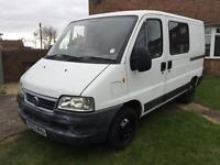 2003 FIAT DUCATO 11 JTD SWB LOW ROOF 6 SEATER CREW CAB RECENT TYRES RECENT SERVICE