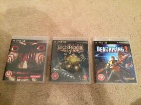 PS3 Saw - Bioshock 2 - Dead Rising 2