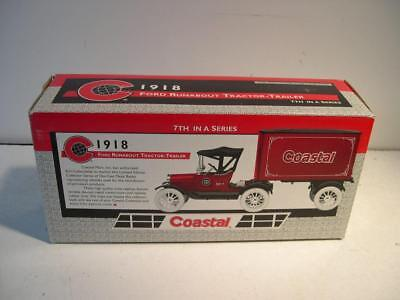 Ertl Coastal 1918 Ford Runabout Tractor Trailer 1 25 Scale Locking Coin Bank Nib