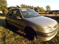 citroen saxo 1.1 silver car hatchback for spares