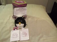FURBY (AS NEW) IN ORIGINAL BOX C/W MANUAL, DICTIONARY ETC ONLY BEEN USED COUPLE OF TIMES