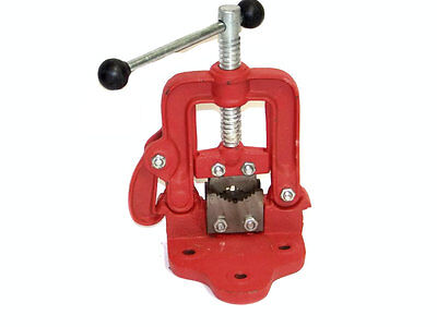 Bench Pipe Vise Clamp On Hinged Type Plumbers Vice 1 Hand Tools