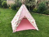 Teepee/Wigwam - canvas play tent