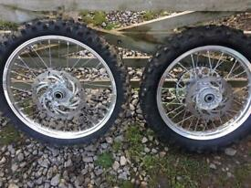 KTM HUSQVARNA WHEELSET 21/18 WHEELS