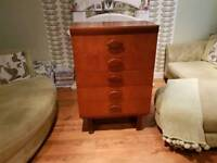 Vintage Retro Chest of Drawers 5 Drawers Dresser Chest Sideboard