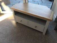 Corner unit oak TV stand - perfect condition