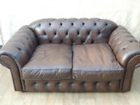 Chesterfield Leather Brown leather sofa (Delivery)