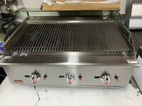 NEW 90 CM GAS FLAME CHAR GRILL CATERING COMMERCIAL KITCHEN FAST FOOD TAKE AWAY SHOP