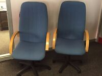 Pair of blue Executive Office Chairs