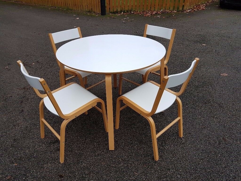 Ikea Skoghall Round White Table 4 Chairs Free Delivery 985