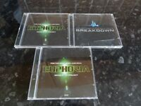 EUPHORIA -DANCE MUSIC CD'S - BEST OF EUPHORIC DANCE BREAKDOWN / MIND BODY & SOUL CD 1 & 2