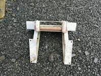 Ifor williams flat bed trailer winch bracket