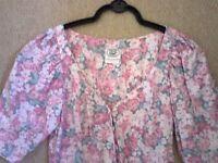 Laura Ashley floral dress...size 10 Vintage