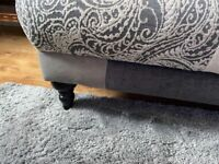 Beautiful 3 seater sofa with foot stool