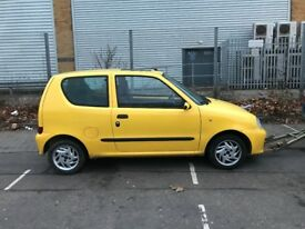 2001 FIAT SEICENTO 1.1 MANUAL YELLOW NOT STARTING GOOD FOR PARTS OR TO REPAIR