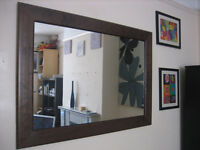 Beautiful Large Brown Solid Wooden Frame Mirror